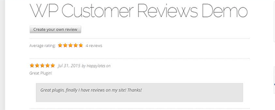پلاگین wp customer review